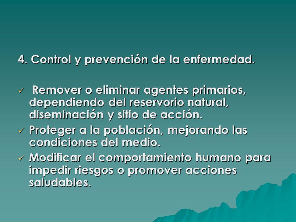 4. Control y prevención de la enfermedad.