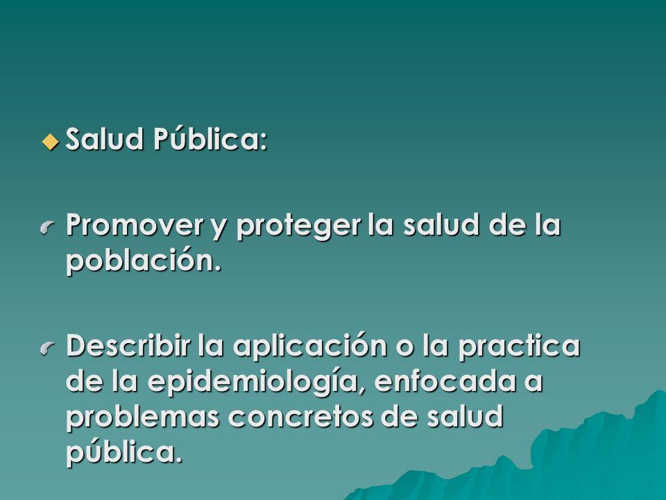 Salud Pública: Promover y proteger la salud de la población.