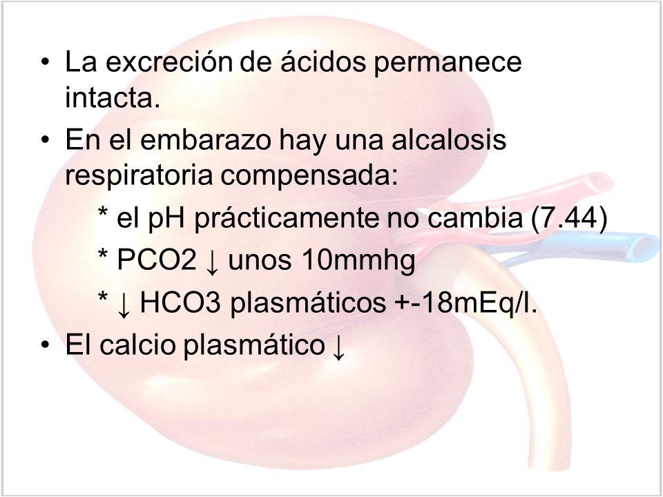 La excreción de ácidos permanece intacta.