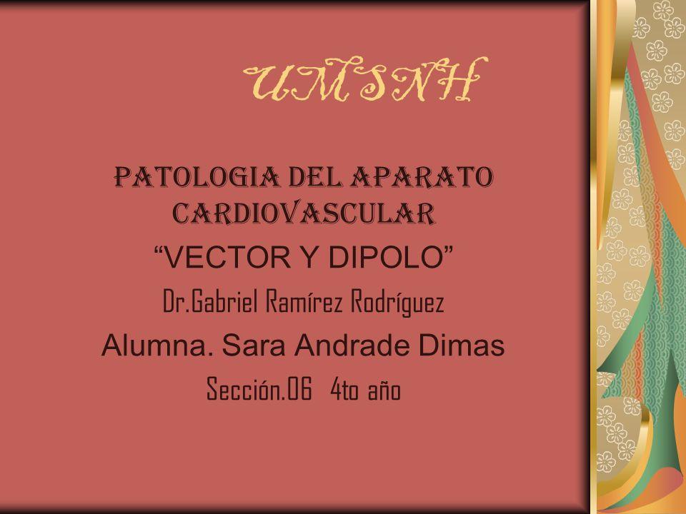 UMSNH PATOLOGIA DEL APARATO CARDIOVASCULAR VECTOR Y DIPOLO