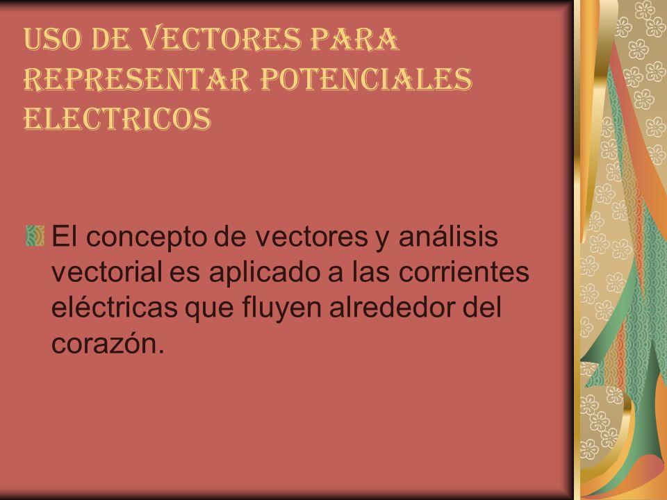USO DE VECTORES PARA REPRESENTAR POTENCIALES ELECTRICOS