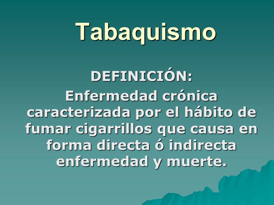 Tabaquismo DEFINICIÓN:
