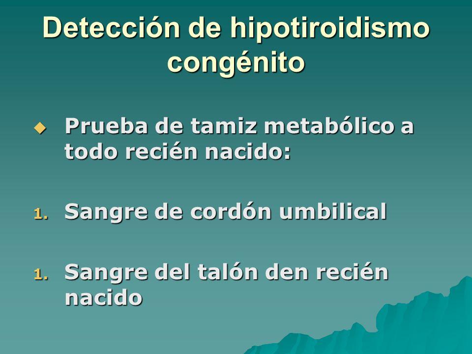 Detección de hipotiroidismo congénito
