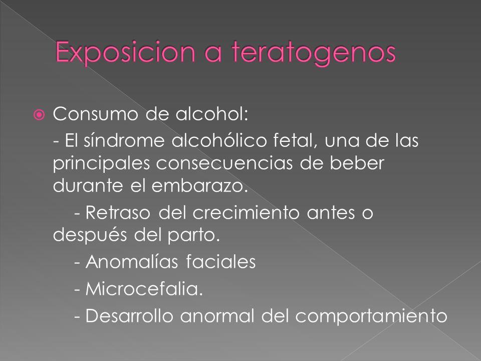 Exposicion a teratogenos