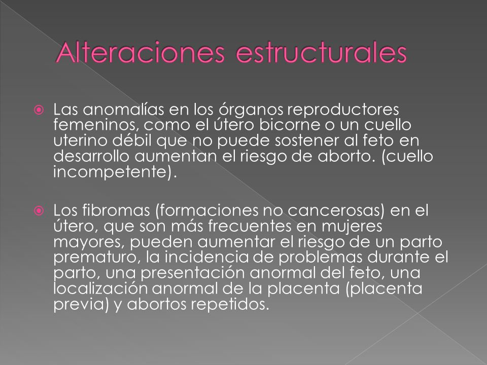 Alteraciones estructurales