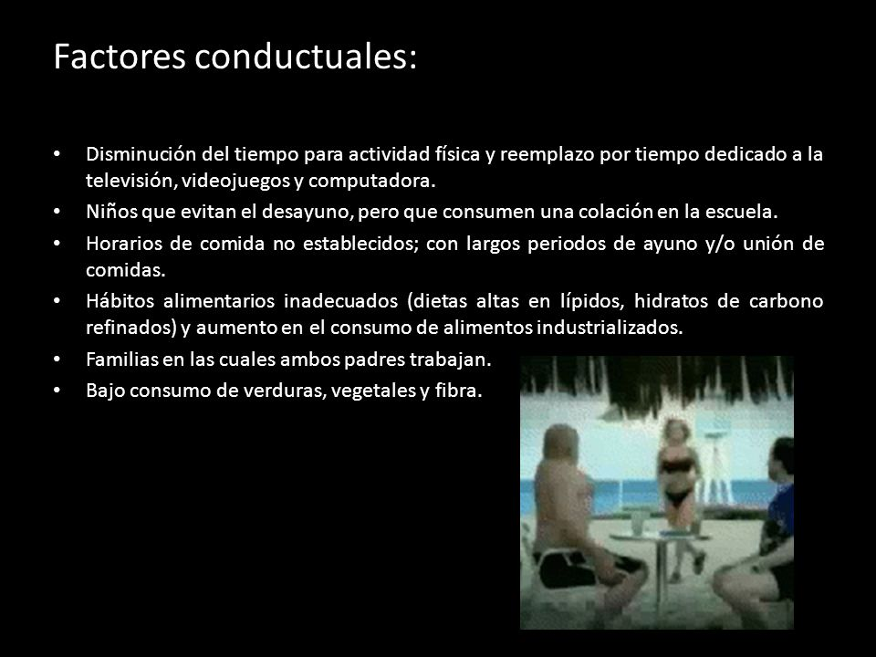 Factores conductuales: