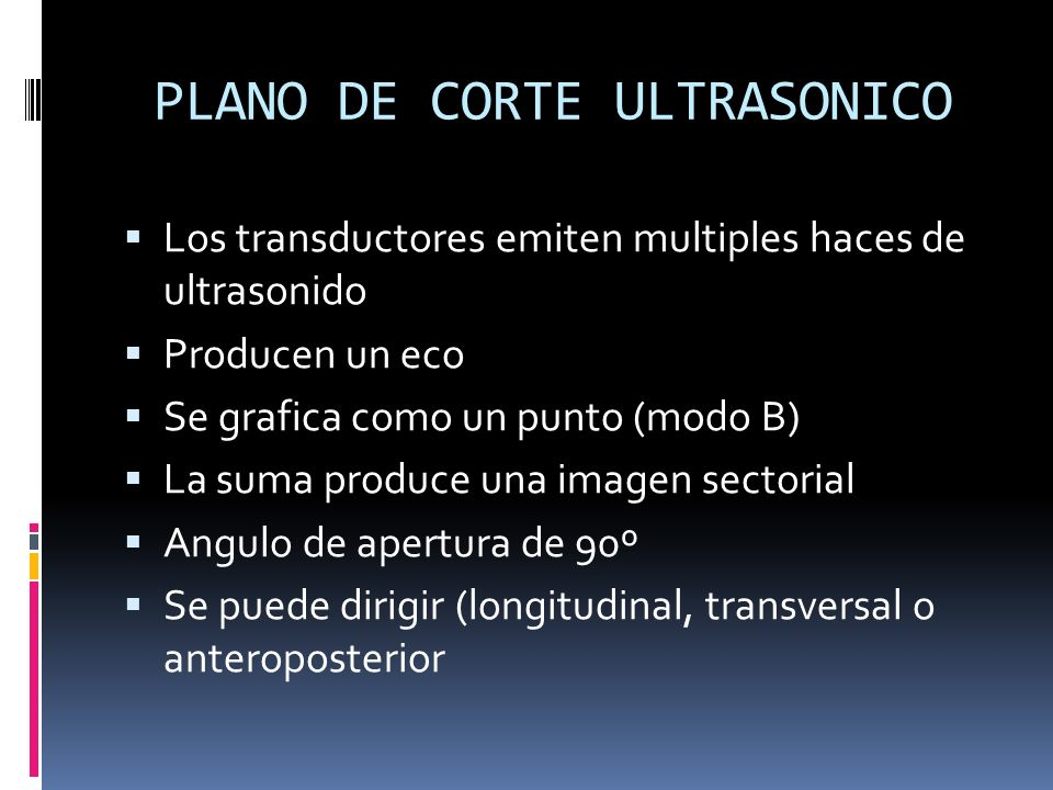 PLANO DE CORTE ULTRASONICO
