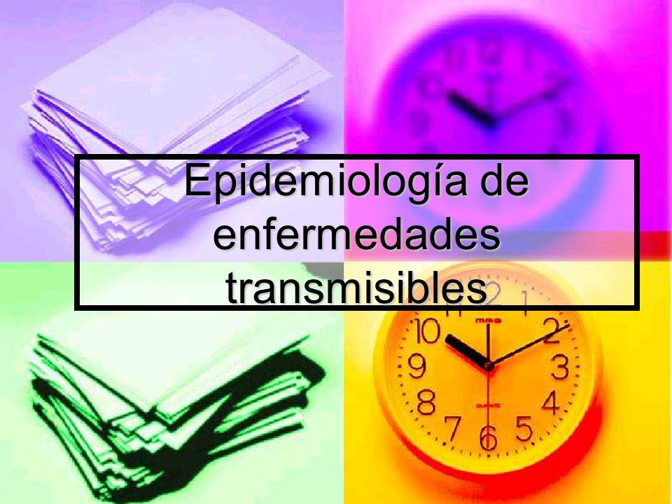 Epidemiología de enfermedades transmisibles