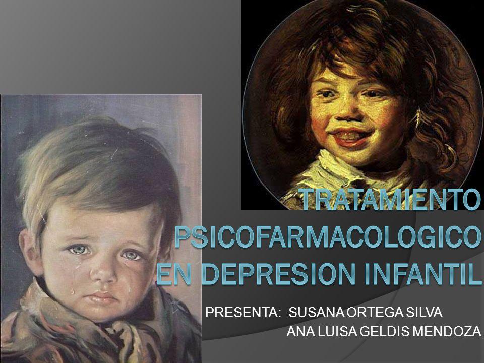 TRATAMIENTO PSICOFARMACOLOGICO EN DEPRESION INFANTIL