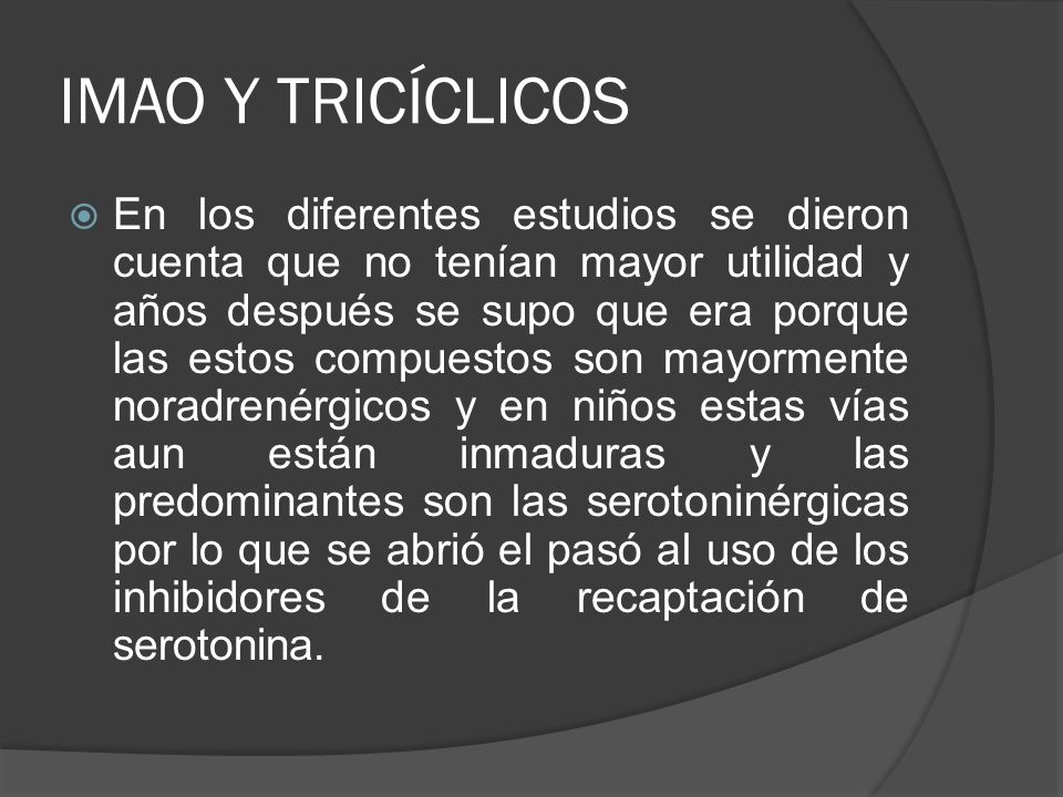 IMAO Y TRICÍCLICOS