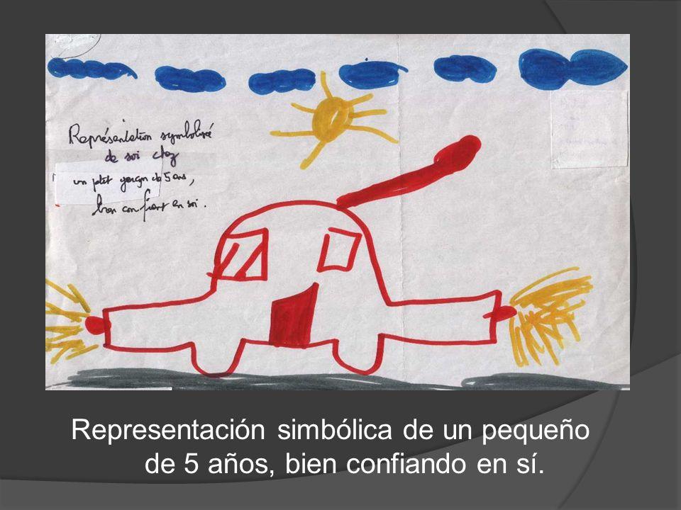 Representación simbólica de un pequeño de 5 años, bien confiando en sí.