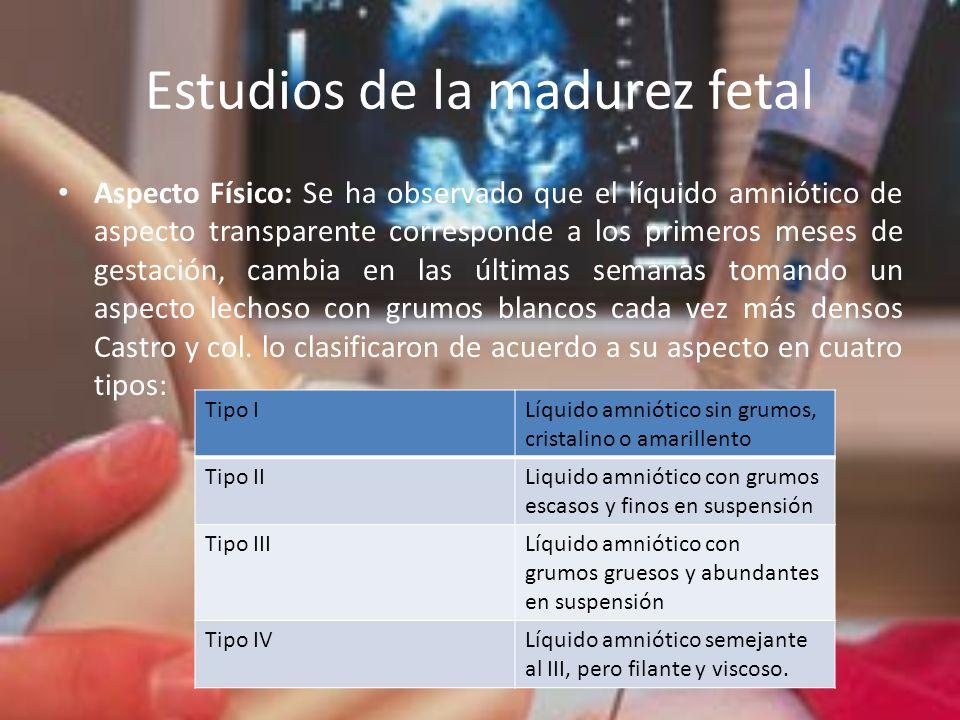 Estudios de la madurez fetal
