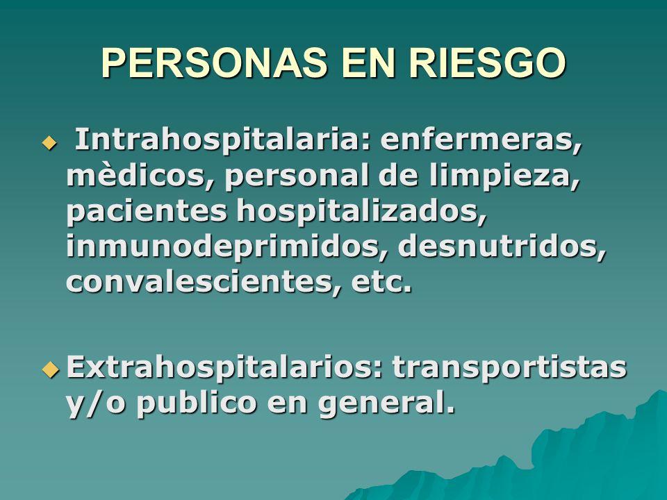 PERSONAS EN RIESGO