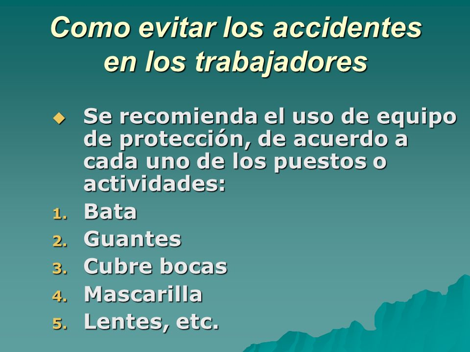 Como evitar los accidentes en los trabajadores