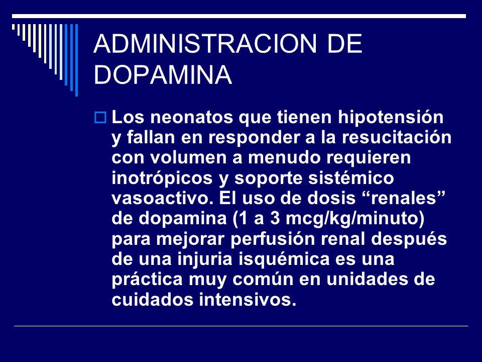 ADMINISTRACION DE DOPAMINA
