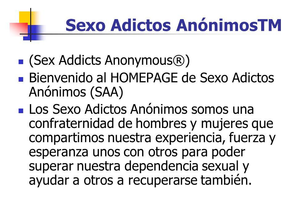 Sexo Adictos AnónimosTM