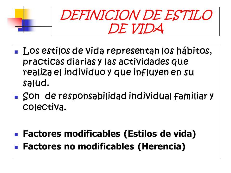 DEFINICION DE ESTILO DE VIDA