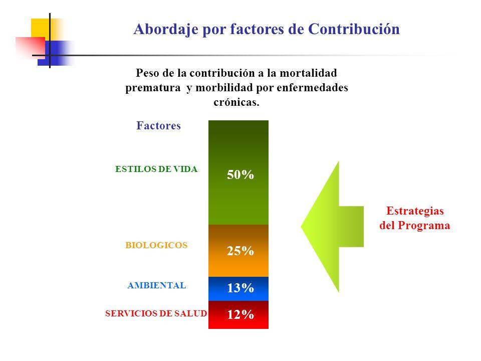 Abordaje por factores de Contribución Estrategias del Programa