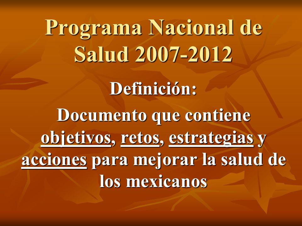 Programa Nacional de Salud 2007-2012