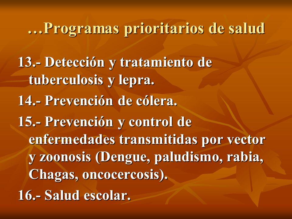 …Programas prioritarios de salud