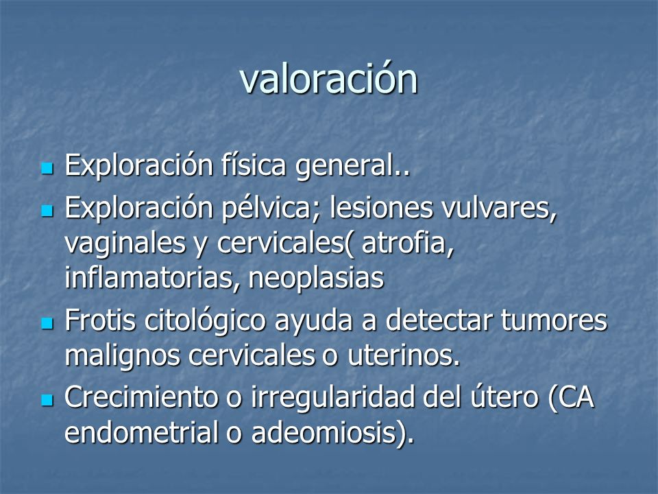 valoración Exploración física general..