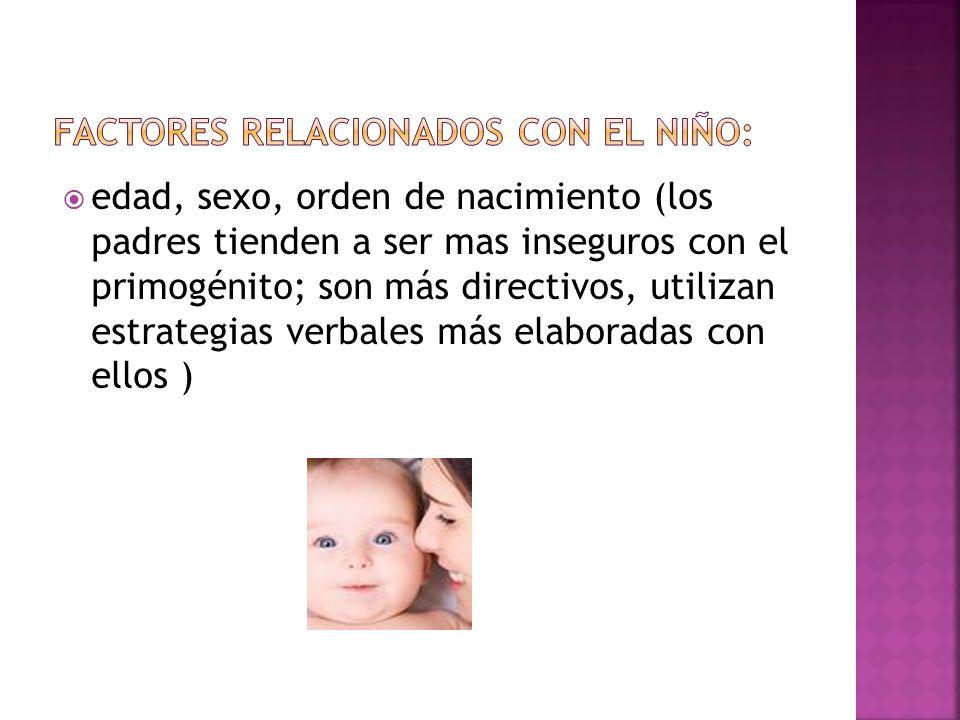 Factores relacionados con el niño: