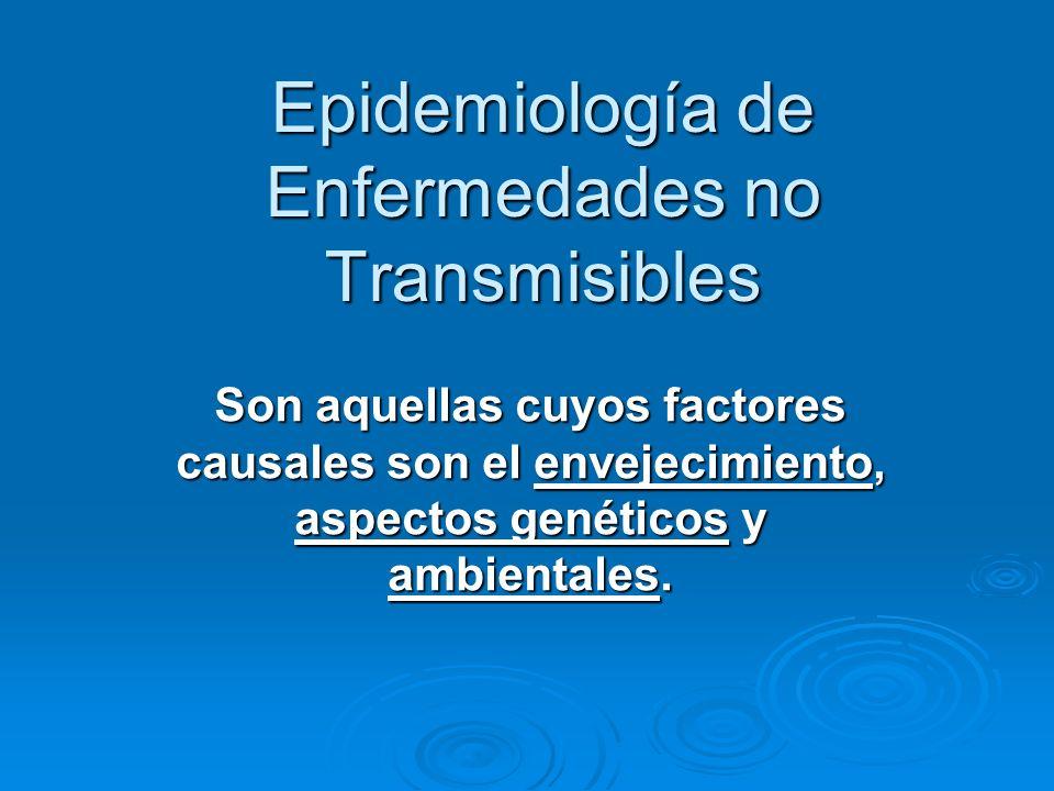 Epidemiología de Enfermedades no Transmisibles