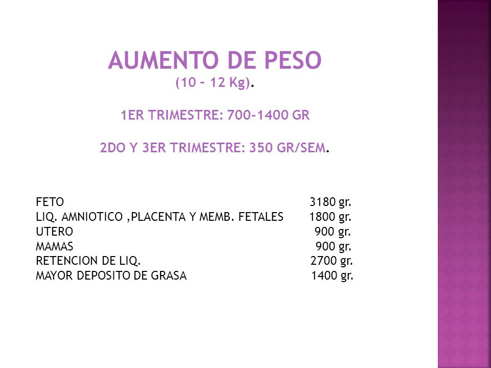 2DO Y 3ER TRIMESTRE: 350 GR/SEM.