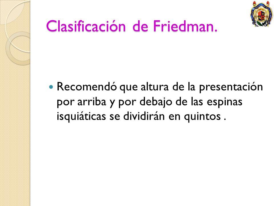 Clasificación de Friedman.