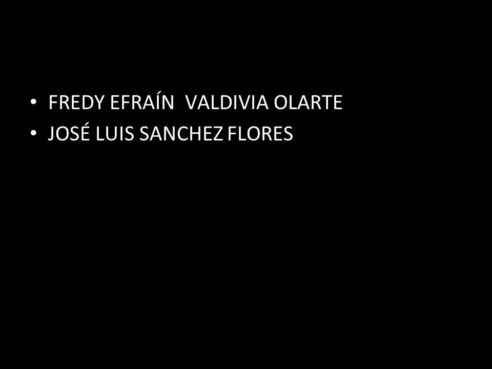 FREDY EFRAÍN VALDIVIA OLARTE