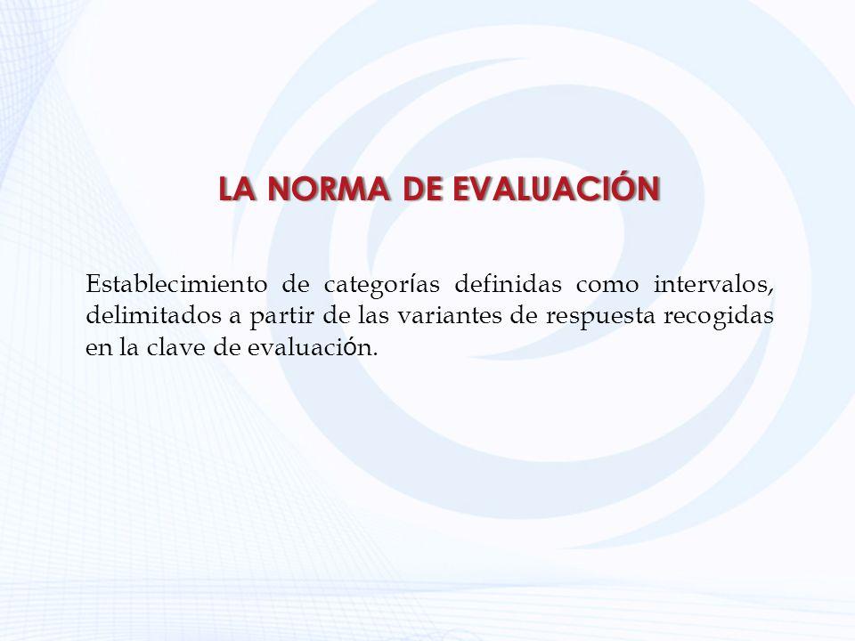 LA NORMA DE EVALUACIÓN