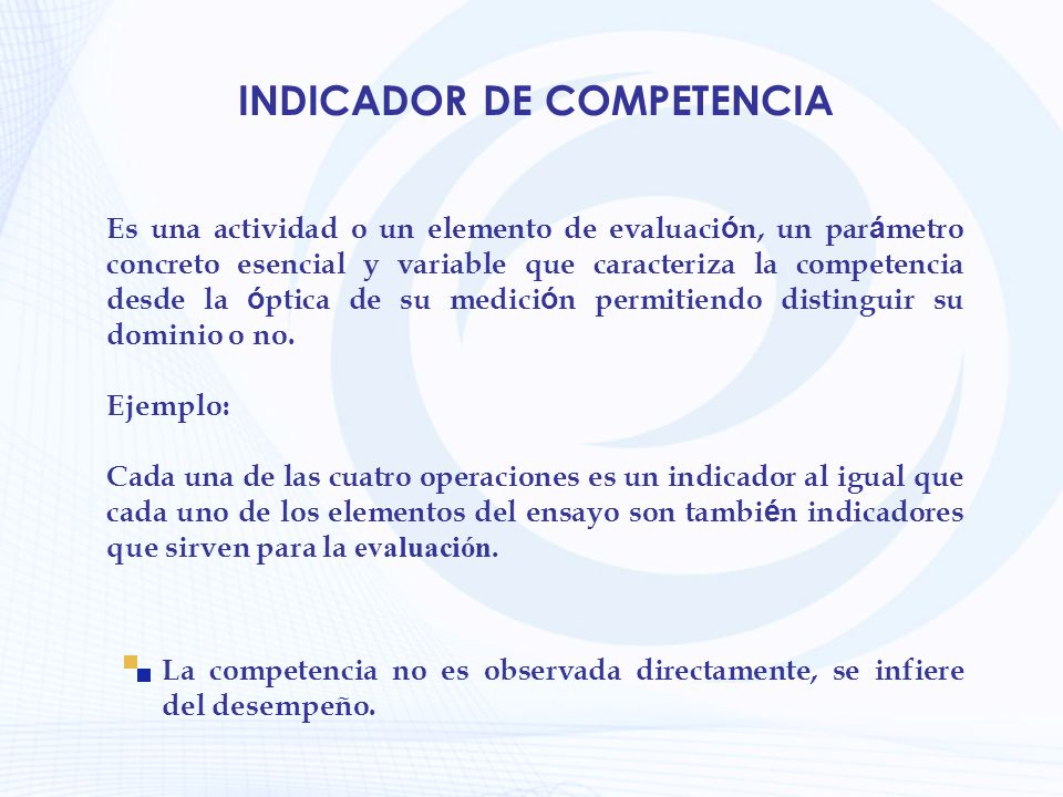 INDICADOR DE COMPETENCIA