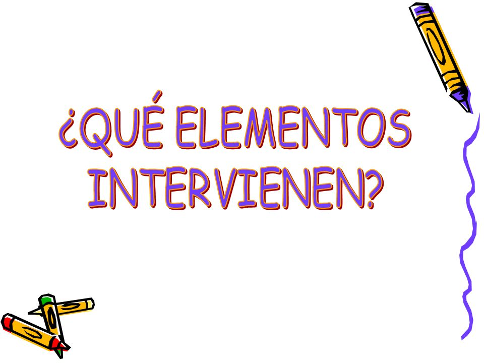 ¿QUÉ ELEMENTOS INTERVIENEN