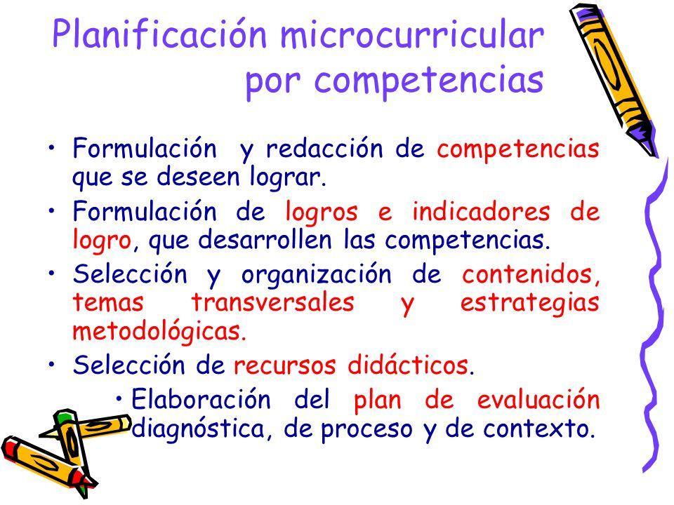 Planificación microcurricular por competencias