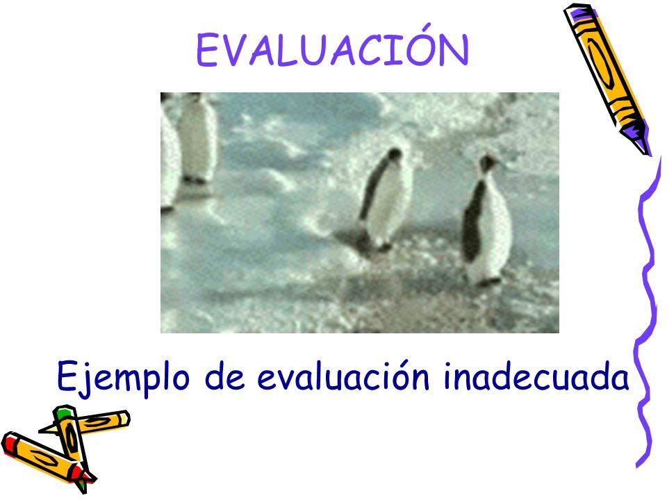 Ejemplo de evaluación inadecuada