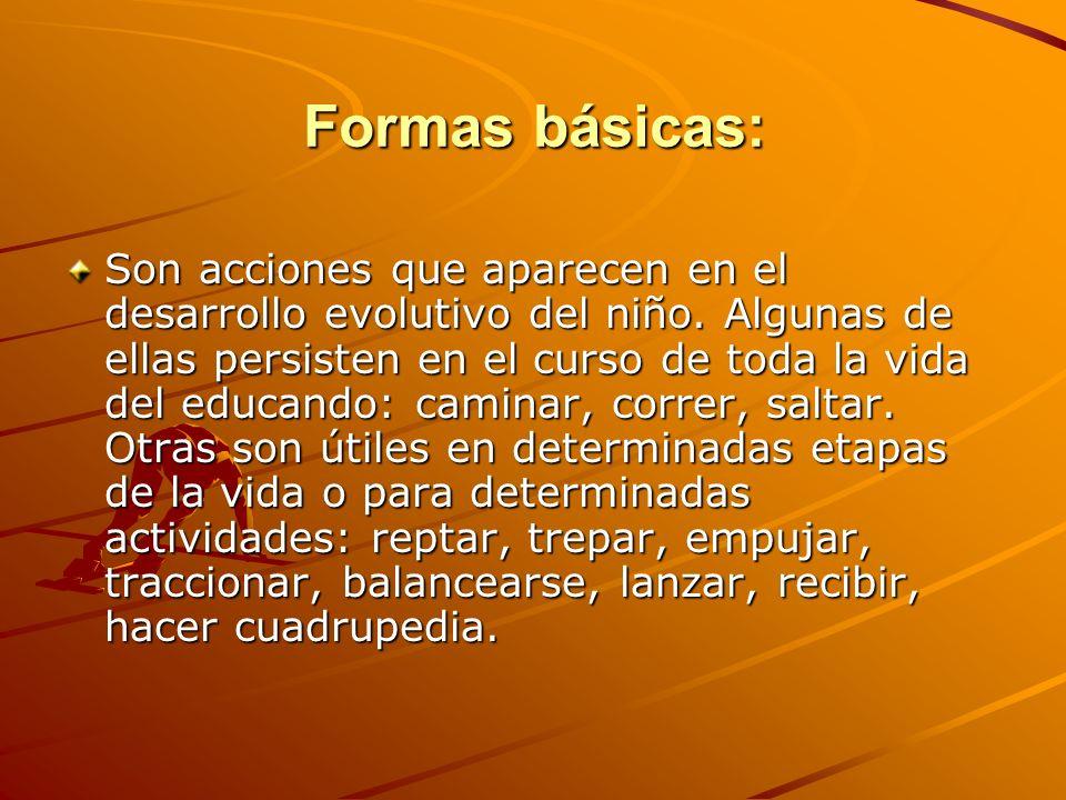 Formas básicas: