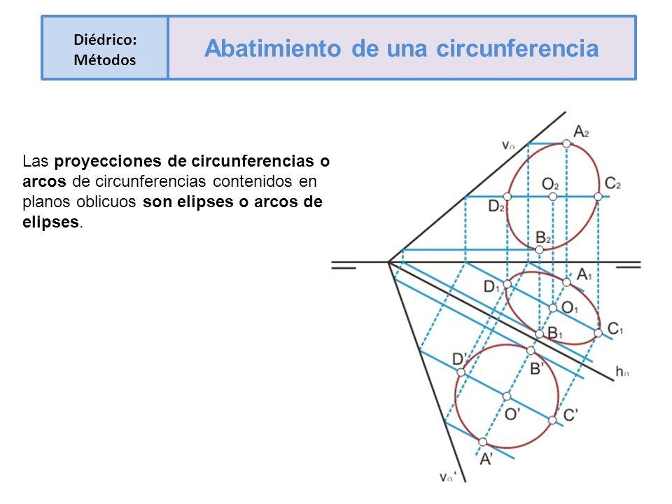 Abatimiento de una circunferencia