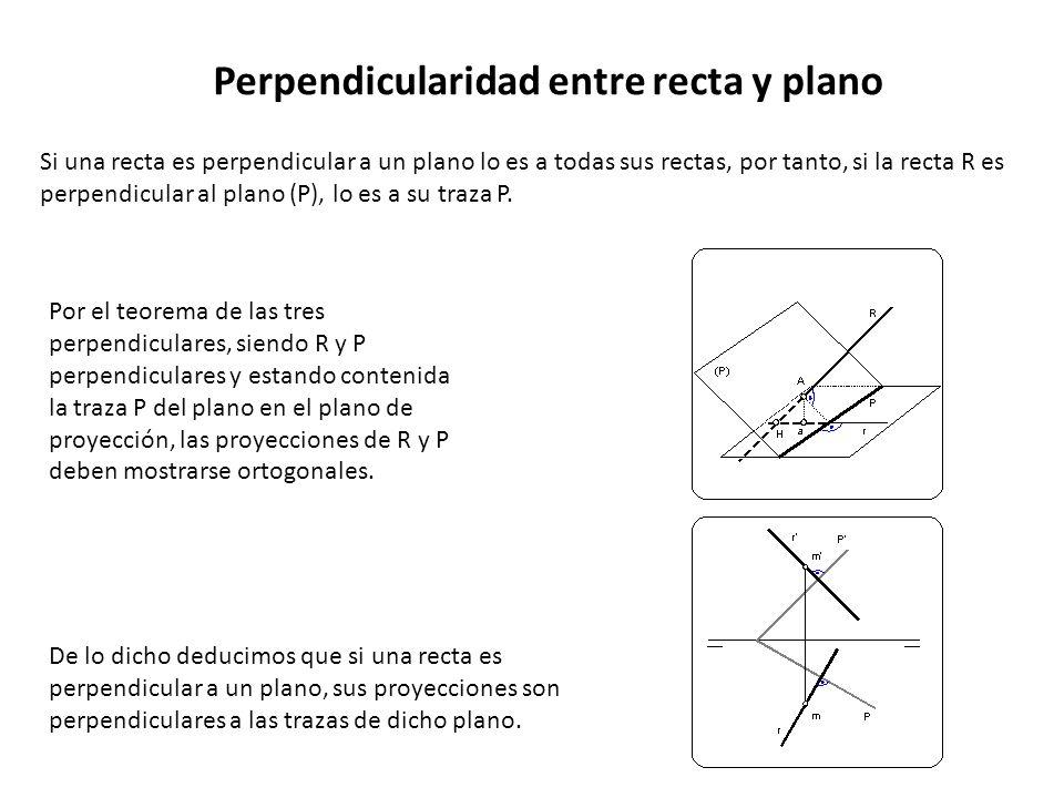 Perpendicularidad entre recta y plano