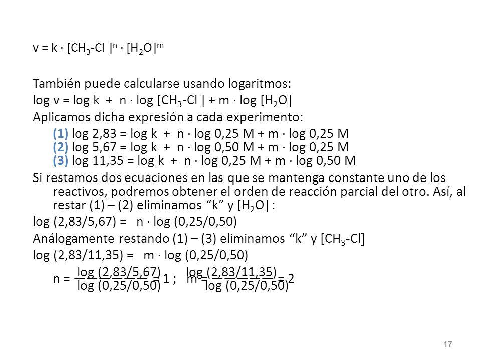 También puede calcularse usando logaritmos: