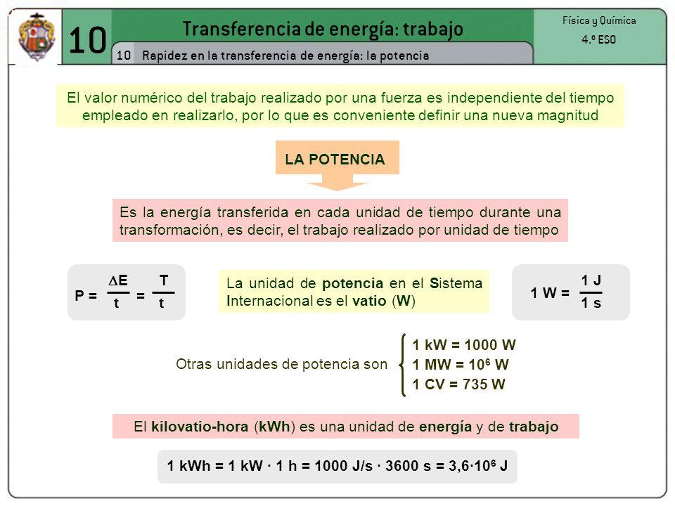 10 Transferencia de energía: trabajo 10