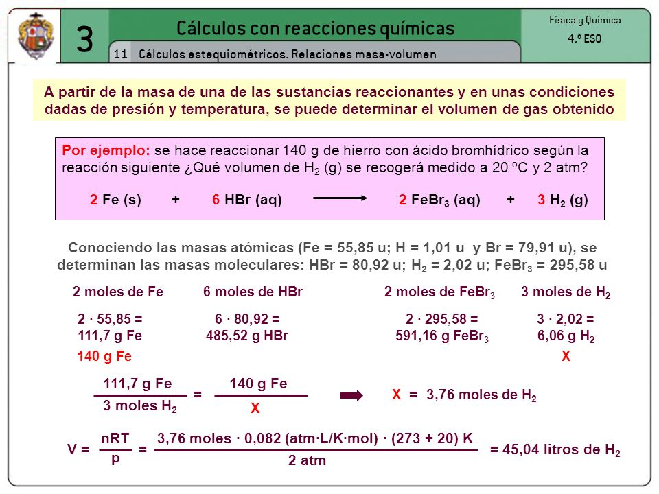 3,76 moles · 0,082 (atm·L/K·mol) · (273 + 20) K