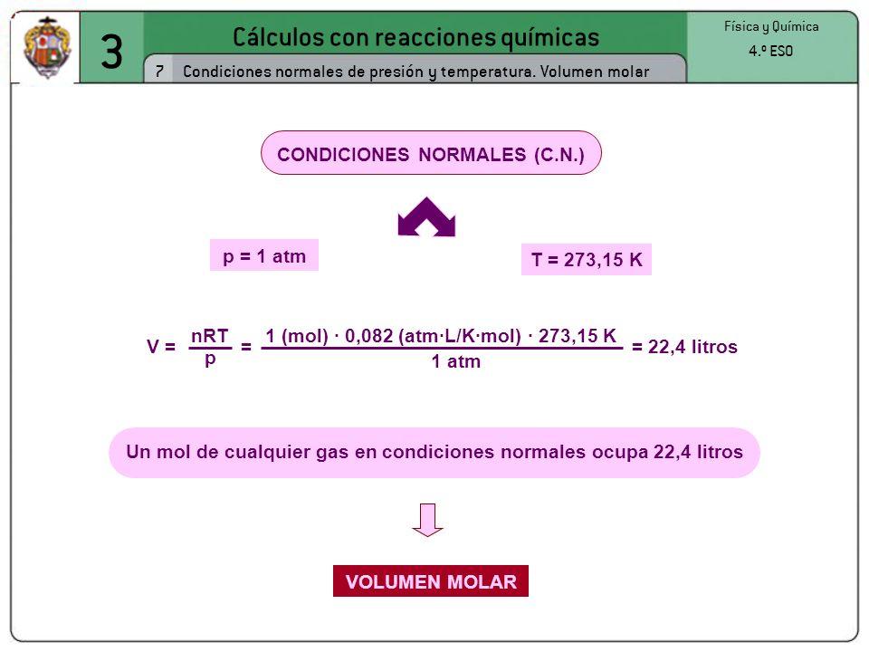 3 Cálculos con reacciones químicas 7