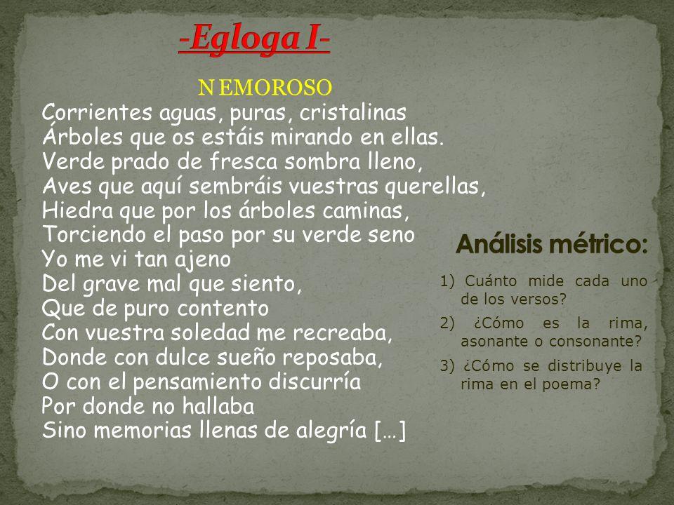 -Egloga I- Análisis métrico: