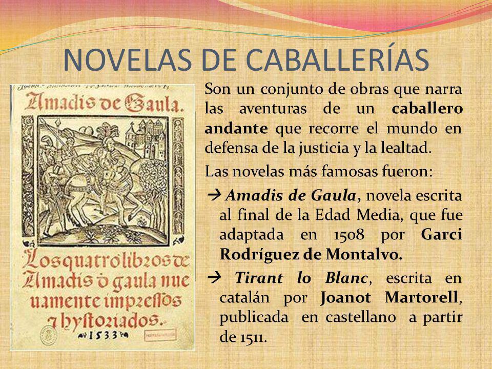 NOVELAS DE CABALLERÍAS