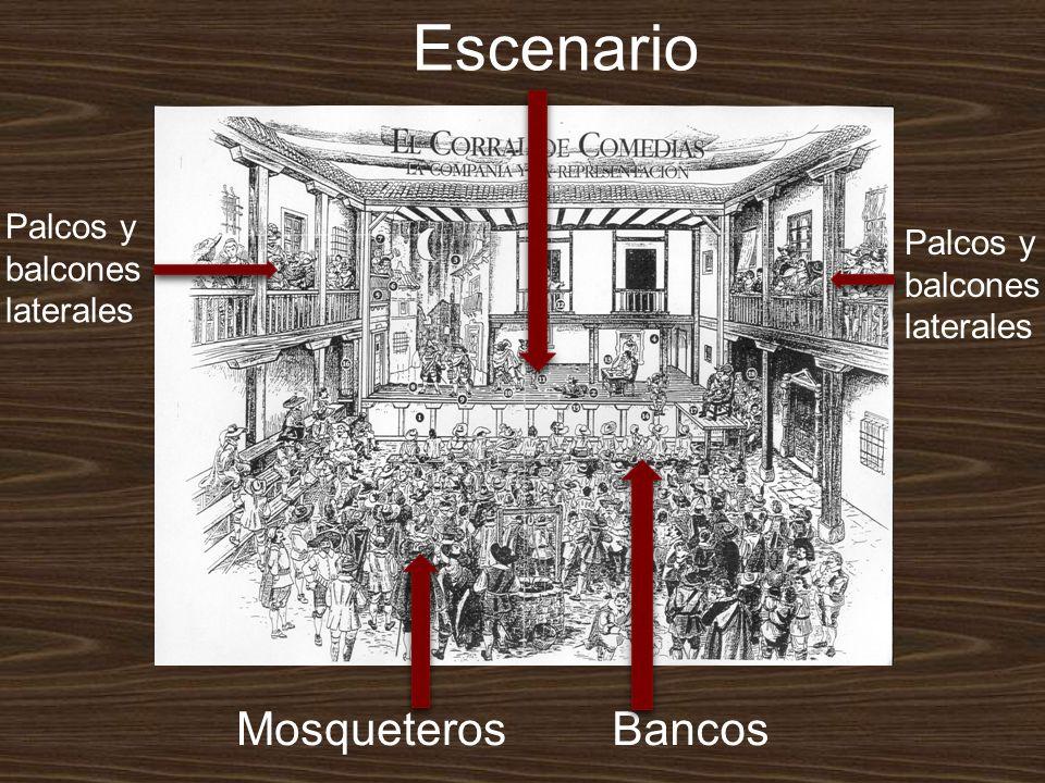 Escenario Mosqueteros Bancos Palcos y balcones Palcos y balcones