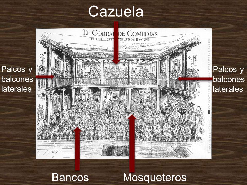 Cazuela Bancos Mosqueteros Palcos y balcones Palcos y balcones