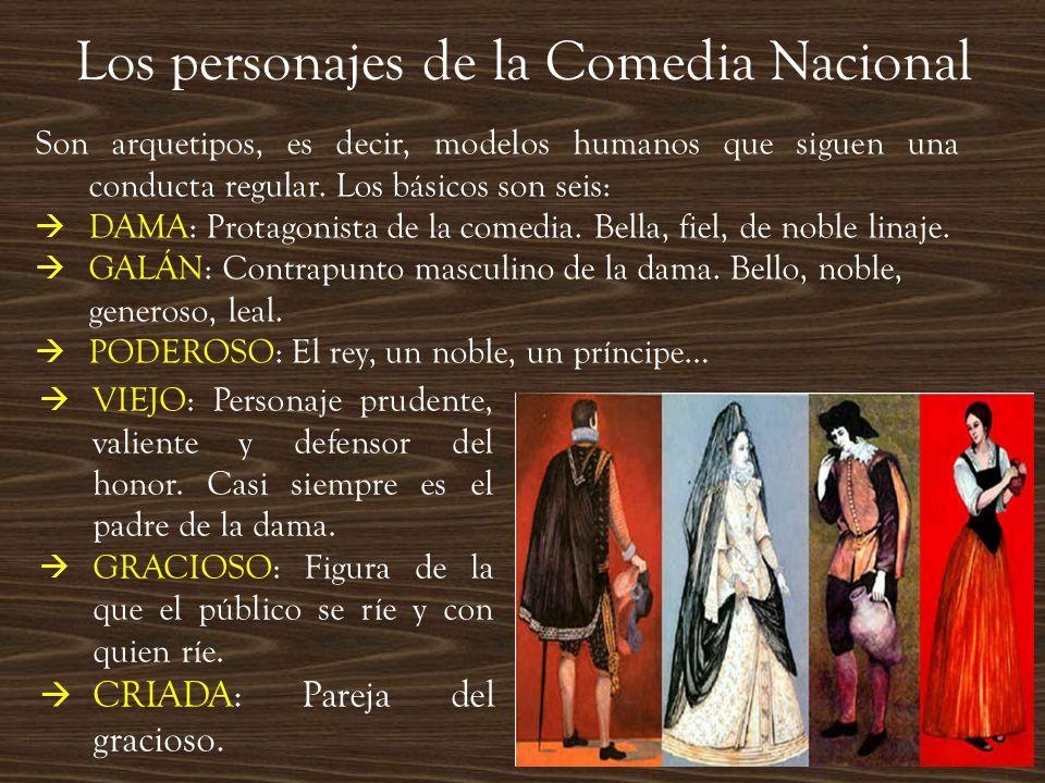 Los personajes de la Comedia Nacional
