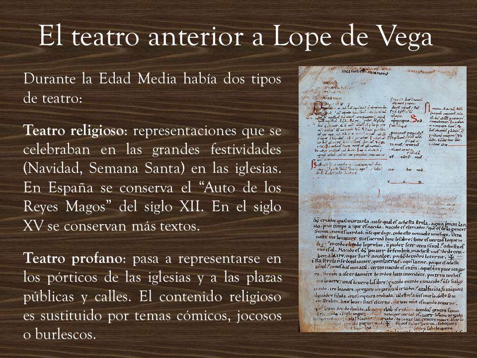 El teatro anterior a Lope de Vega