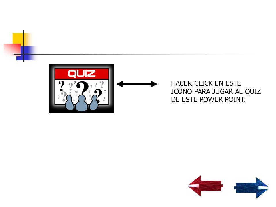 HACER CLICK EN ESTE ICONO PARA JUGAR AL QUIZ DE ESTE POWER POINT.