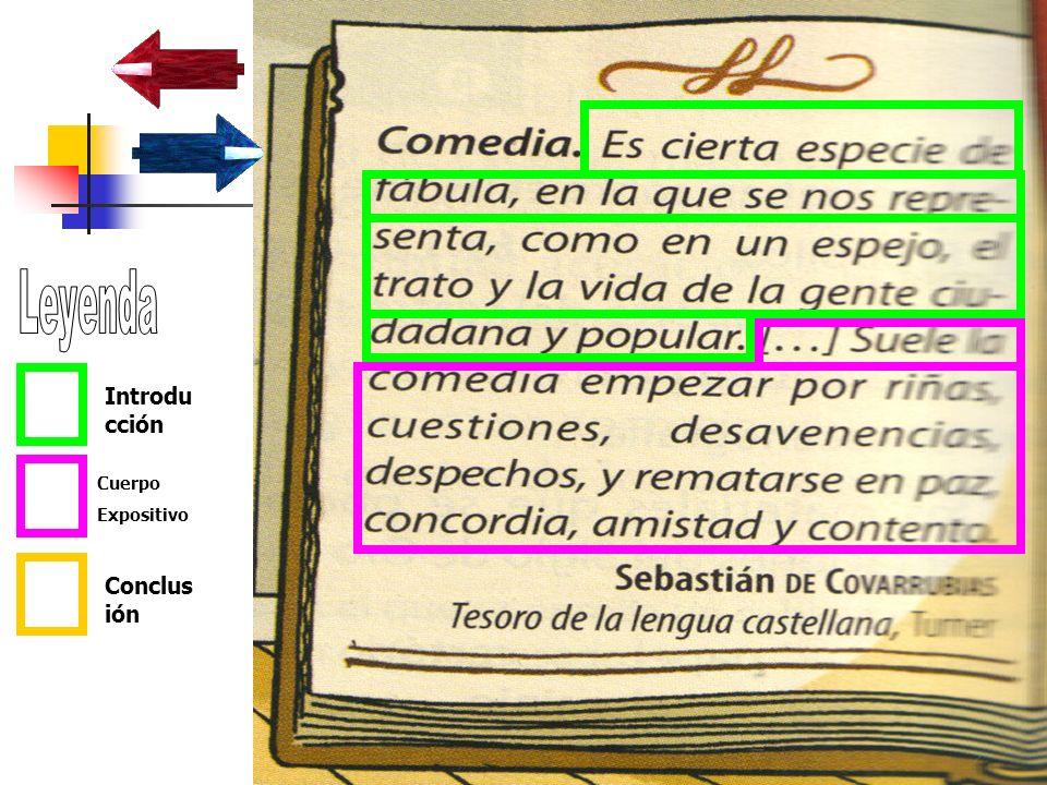 Leyenda Introducción Cuerpo Expositivo Conclusión